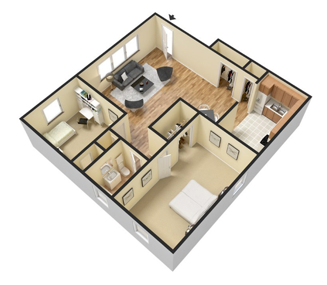 Floor Plans on One Bedroom 1 Bath Floor Plans 600 Square Feet